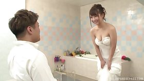 Japanese baby is almost to get married, but she wants the best man's dick