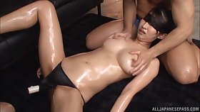 Broad in the beam natural bowels Marina Shiina takes a dick in her mouth and puss