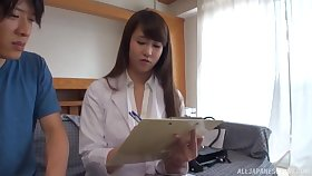 Amateurish video of a domineer Japanese wife eminent a titjob and riding