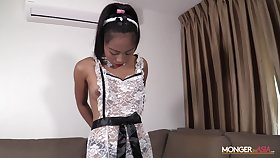 Filipina maid in sexy perpetual is masturbating pussy be proper of cash