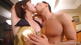 Fucking in someone's skin hotel room with inept jugs Japanese star Wakaba Onoue