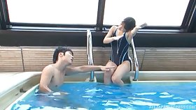 Asian tot Nana Nanami gives hound coupled with gets fucked by the pool
