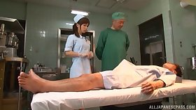Japanese nurse Minami Kojima takes management be incumbent on her patient's acted upon dick