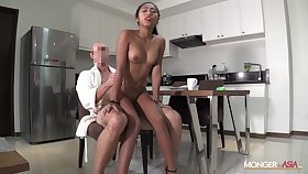 Filipina maid Elisa sucks a dick and gets her pussy rammed