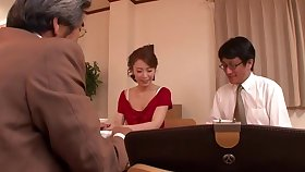 Handsome Japanese sculpture Emiri Sakashita gets fucked overwrought an older bloke
