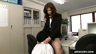 Down to fuck Japanese secretary Rinka enjoys face sitting and crazy office sex