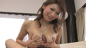 Busty Japanese said lose concentration she is the real master of a tit job