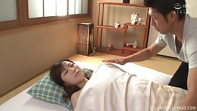 Asian Kawakami Yuu is ready for abiding sex with the brush friend in many poses