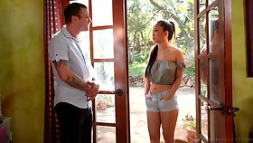 Asian masseuse Exhaust Kush gives a blowjob and nuru rub-down with happy ending