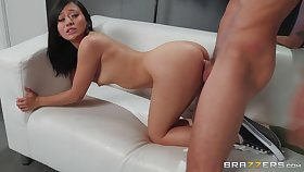 Jasmine Grey goes on her knees to realize barrels of cum on her face